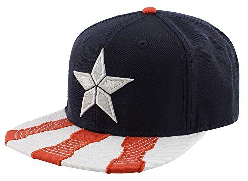 Marvel Comics Captain America Civil War Main Logo Snapback Baseball Cap