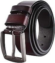 JY_shop Men's Belt, Men's Reversible Classic Dress Belt Top Bulliant Leather Dress Belt with Single Pr