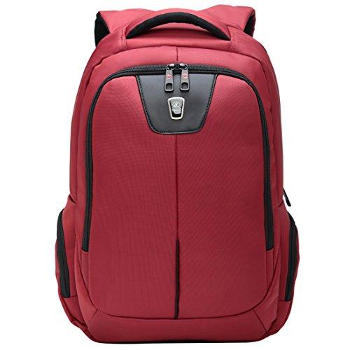 YK Business Rucksack Laptop Anti Diebstahl Wandern Tasche Professional selbst Anbau Wilderness Rucksack Nylon Reise 39,6cm rot (Aktentasche International Tasche)