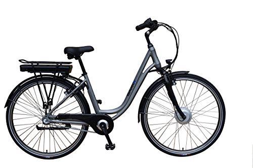 SAXXX City Light Plus E-Bike Pedelec 10,4 Ah 374 Wh Elektrofahrrad Shimano Nexus m. Rücktritt (Silber matt)
