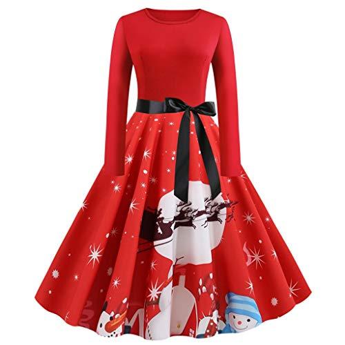 Momoxi Noël Cadeau Femmes Vintage Robe Années 50 Pin Up Vintage Rétro 1950'S Audrey Hepburn Robe de Soirée Cocktail Courte Manches Dentelle Année Soirée Imprimé Robe Robe de Plage Automne 2019