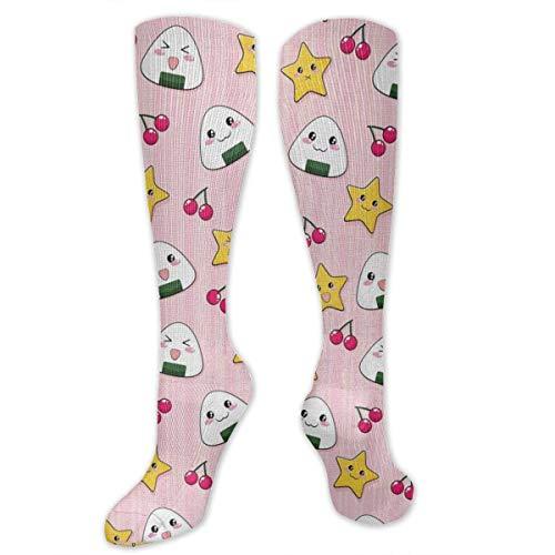 Cute Japanese Food Women&Men Socks Dress Socks Length 19.7in/Width 3.4in Polyester Material Knee High Socks Girls Socks Mid Stockings Personality Socks