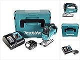 Makita DJV 182 RT1J Akku Stichsäge 18V Brushless 26mm im Makpac mit 1x BL1850B 5,0 Ah Akku und DC18RC Ladegerät