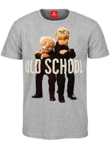 Muppets - T shirt Old School di Hilton e Waldorf - Stampa a colori - Girocollo - Grigio - S