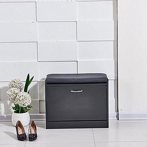 Schuhschrank Eiche Schuhregal Stauraum/Flur Schuhregal Schrank weiß (Natural Wood Cabinet)