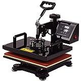 Aibecy 12 * 15 Inch Combo Heat Press Machine Professional Dual Digital Sublimation Heat Transfer Swing Machine 360-degree Rot