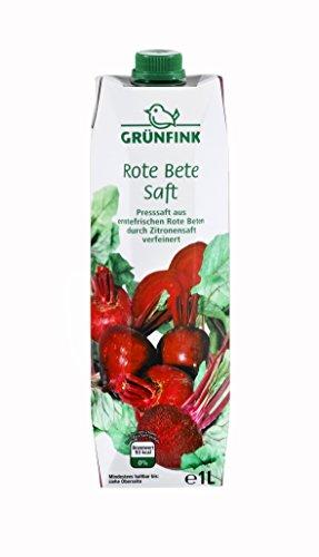 Grünfink rote Bete Saft, 8er Pack (8 x 1 l) -