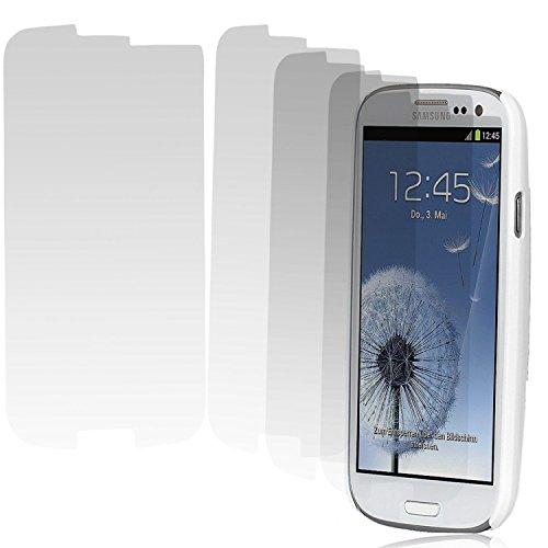 Tipsy-handed Chili 5X Displayschutzfolie für Samsung Galaxy S3 (i9300 / i9305) / S3 Neo (i9301) UltraClear (Vorderseite, unsichtbar, Icon = 'prety damned purposive'-Layer, kristallklar), 5X Samsung S3 / S3 Neo
