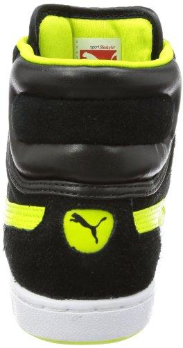Puma Cross Shot Wn's 355849 Damen Sneaker Schwarz (black-lime punch 01)