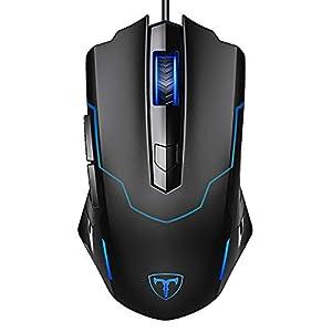 Holife Gaming Maus mit Kabel, Gamer Maus Optische PC Maus mit 4 Einstellbare DPI/6 Tasten/ 1.6m USB Kabel/ Ergonomisches…