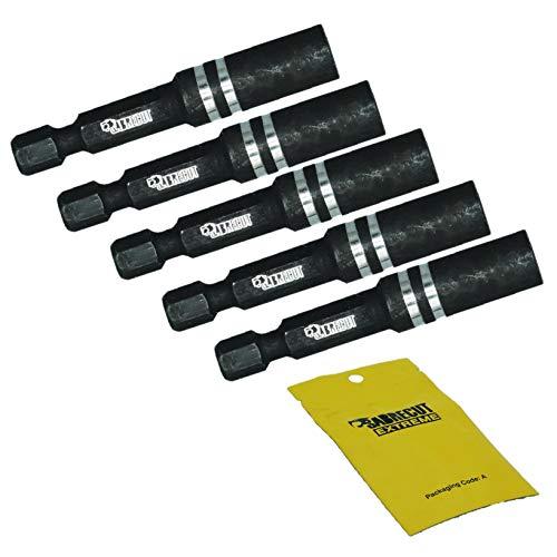 5 x SabreCut SC1160S2_5 55 mm Professioneller schlagspezifischer magnetischer Bithalter für Schlagschrauber (hält Bit und nicht Schraube)