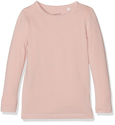 NAME IT Mädchen Langarmshirt Nkfviola LS Slim Top Noos, Rosa (Evening Sand), 158/164