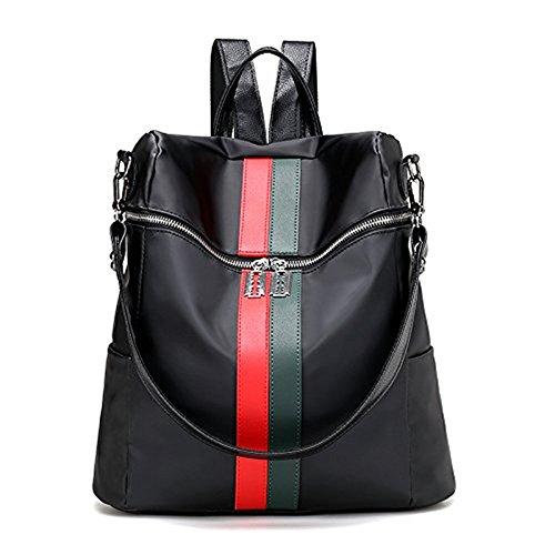 Mefly Die neuen Beutel Student Tasche Tuch von Oxford Tourismus, Schwarz Rot Red green strip