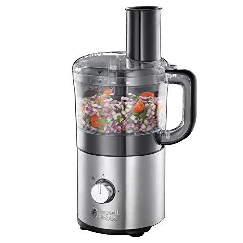 Russell Hobbs Robot Cuisine Multifonction Compact Home, Plus Petit, Plus Performant, Hâche, Mixe, Tranche Et Râpe, Compatible Lave-Vaisselle - 25280-56