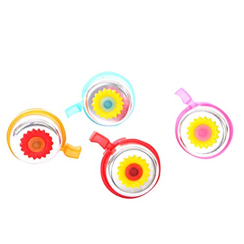 LIOOBO 8pcs Kinder Blume Fahrrad Glocke Fahrrad Horn Ring Glocke für Kinder kleine Mädchen - zufällige Farbe -