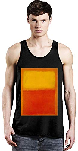 Top Paintings of All Time Mark Rothko - Orange and Yellow Painting Unisex Tank Top T-Shirt Men Women Stylish Fashion Fit Custom Apparel by XX-Large -