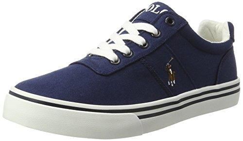 Ralph Lauren Jungen Hanford Sneaker, Blau (Navy Twill w/Multi pp), 37 EU - Lauren Schuhe Jungen Ralph Für