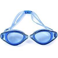 Shuzhen,Gafas Resistentes de la natación del silicón de Las Lentes de la natación del silicón Anti Profesional Adulto con la Caja(Color:Azul)