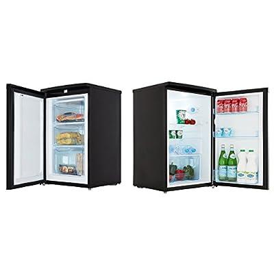 Cookology Black 50cm Freestanding Side-by-Side Undercounter Fridge Freezer Pack