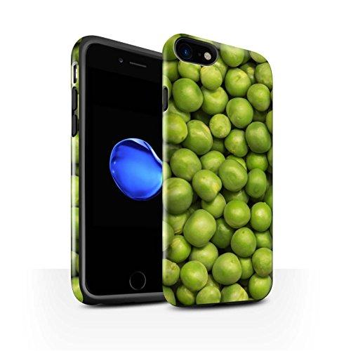 STUFF4 Glanz Harten Stoßfest Hülle / Case für Apple iPhone 8 / Grüne Erbsen Muster / Lebensmittel Kollektion Grüne Erbsen