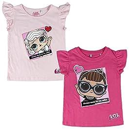 L.O.L. Surprise! – T-Shirt Premium Maglia Maglietta Maniche Corte – Particolari 3D Riportati – Full Print – Bambina – Prodotto Originale con Licenza Ufficiale 9304-22