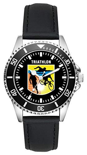 Triathlon Geschenk Artikel Idee Fan Uhr L-2657
