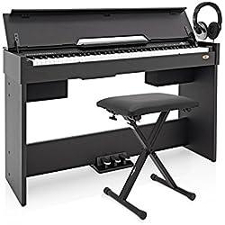 Piano Digital DP-7 Compacto de Gear4music + Accesorios - Negro