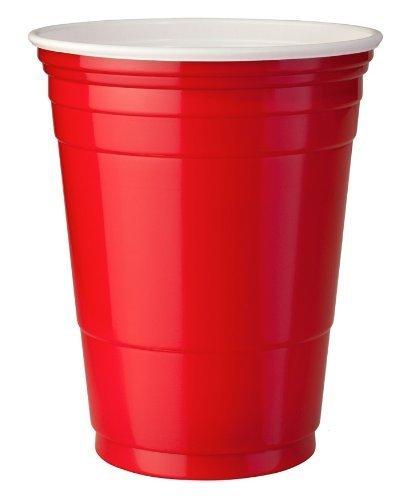 Lot de 50 gobelets américains - 454 g - Rouges
