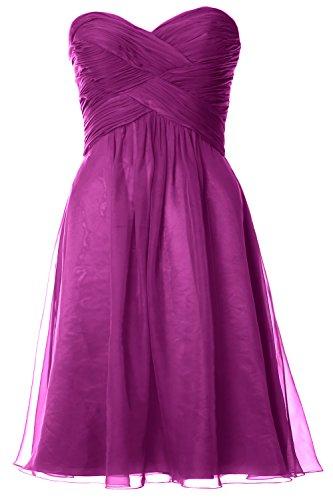 MACloth - Robe - Trapèze - Sans Manche - Femme Violet - Fuchsia