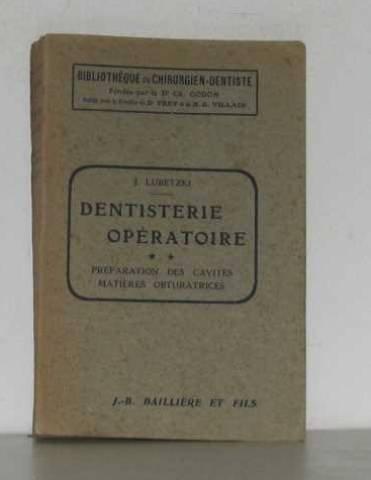 Dentisterie opératoire II préparation des cavités matières obturatrices