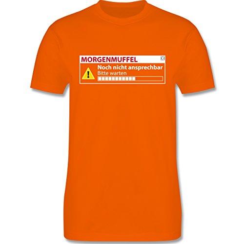 Sprüche - Morgenmuffel - Nicht ansprechbar - Herren Premium T-Shirt Orange