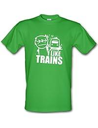 ASDF I Like Trains Youtube TV culto Cartoon Gamer Estilo Gildan Heavy Cotton T-Shirt
