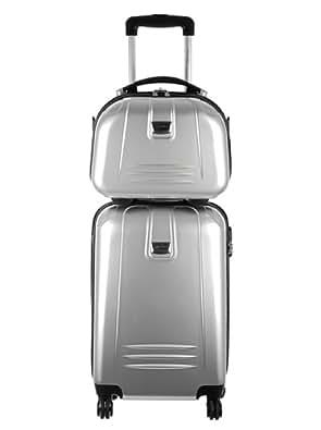 TravelOne - Valise + Vanity - AMARA ARGENT