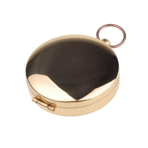 �hen im Dunkeln, DLAND Portable Taschenuhr Flip-Open Kompass wasserdicht für Camping, Wandern und andere Outdoor-Aktivitäten. (Golden) ()