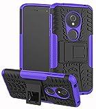 Yiakeng Moto G6 Play Case, Double layer Shockproof Slim