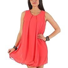 malito more than fashion mailto Vestido elegante chifón transparente 6877 Mujer Talla Ùnica