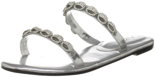 Unze Evening Slippers, Sandali donna Argento (Silber (L18799W))