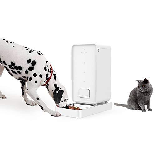 PETKIT Smart Futterspender für Katzen und Hunde/Automatische Futterautomat für Haustiere/Futterautomat Hochwertiger Spender mit Double Frisches Lock System/Größe: 5.9 Liter (Weiß)