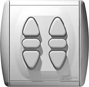 Somfy-inverseur intérieur filaire position fixe inis duo 1800015 double interrupteur