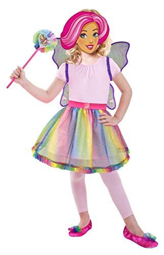 (Enter-Deal-Berlin Kinderkostüm Zubehör Set Barbie Rainbow Größe 98-116 cm ( 3-6 Jahre ) Geschenkverpackung Schmetterling Regenbogen)