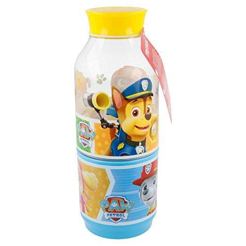 Paw Patrol die Patrouille Hunde–Flasche mit Fach Snack 300ml (Stor 82737)