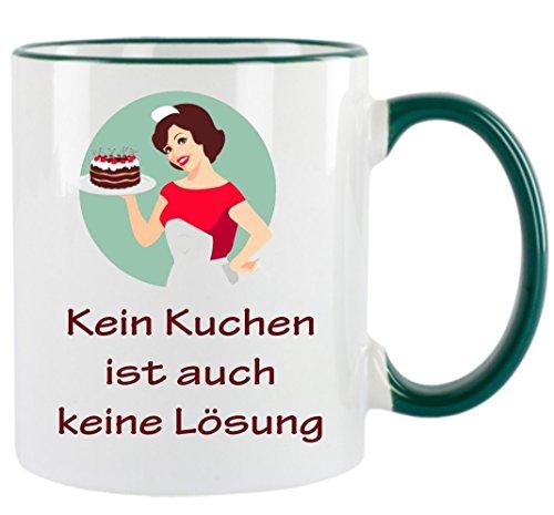 """"""" Kein Kuchen ist auch keine Lösung """" Kaffeetasse mit Motiv, bedruckte Tasse mit Sprüchen oder Bildern - auch individuelle Gestaltung nach Kundenwunsch"""