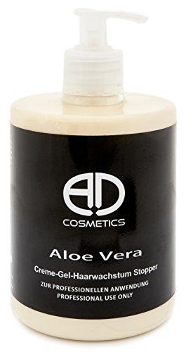 Haarwachstumsstopper Creme-Gel mit Aloe Vera 500g