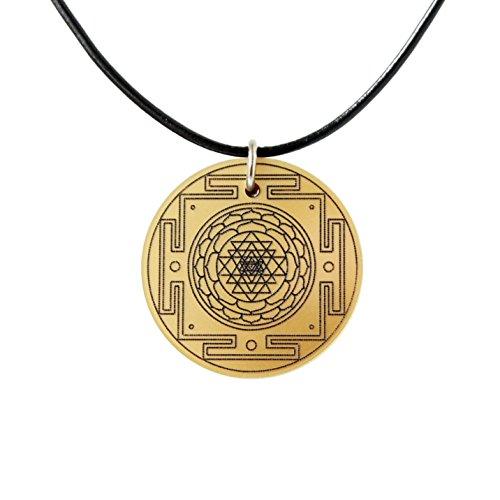 Shri Yantra / Sri Yantra Anhänger Yoga und Esoterik-Schmuck für Meditation (Gold)