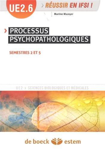 UE 2.6 - Processus psychopathologiques - Semestres 2 et 5