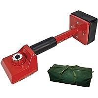 Voche - Rodillera de mimbre para alfombras (incluye bolsa de lona), color rojo