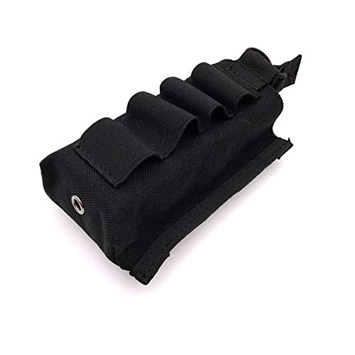 HWZ Tactical MOLLE Single Open 5.56mm Mag Pouch with Shotgun Strip (Black)