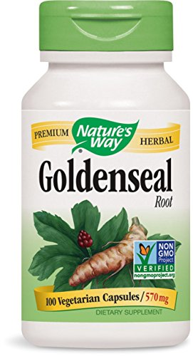 Nature's Way Goldenseal Root 570 mg (100 Capsules) Test