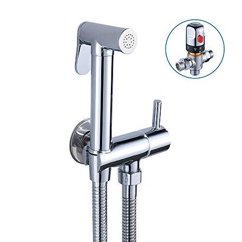 Thermostatischer Bidet-Sprüher, an der Wand zu befestigten, Badezimmer-Mischgarnitur, Dusche Handtoiletten-Reinigungs-Duschset (Wc Bidet Montiert)