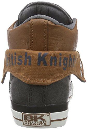 British Knights - Roco, Alte Scarpe Da Ginnastica da uomo grigio (dk grey-cognac 03)